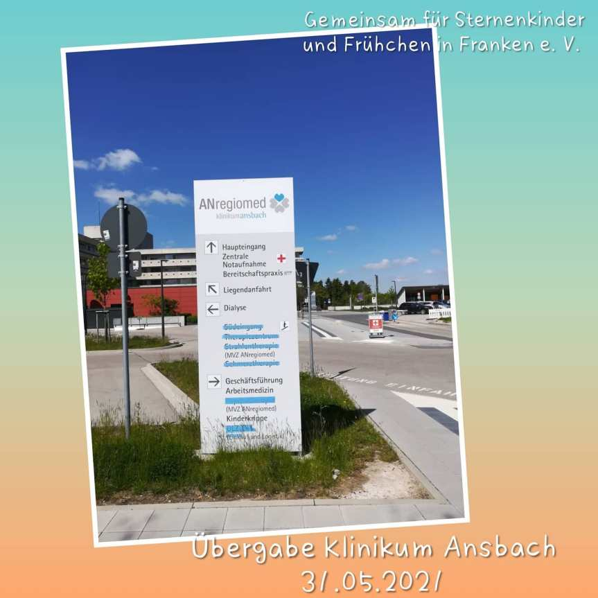 Übergabe Klinikum Ansbach – Mai2021